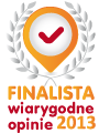 Zostaliśmy finalistą w rankingu sklepów internetowych biorących udział w programie wiarygodnych opinii 2013