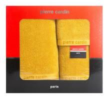 274075e139dae1 Komplet ręczników w pudełku Evi 3cz. musztardowy 430g/m2 Pierre Cardin