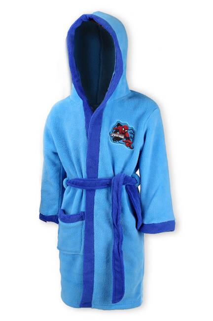 58699896783ef6 Szlafrok dziecięcy pluszowy Spiderman 110/116 5-6 lat niebieski Człowiek  Pająk