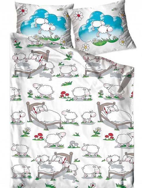 Pościel Bawełniana 160x200 Dla Dzieci Owieczki Owce