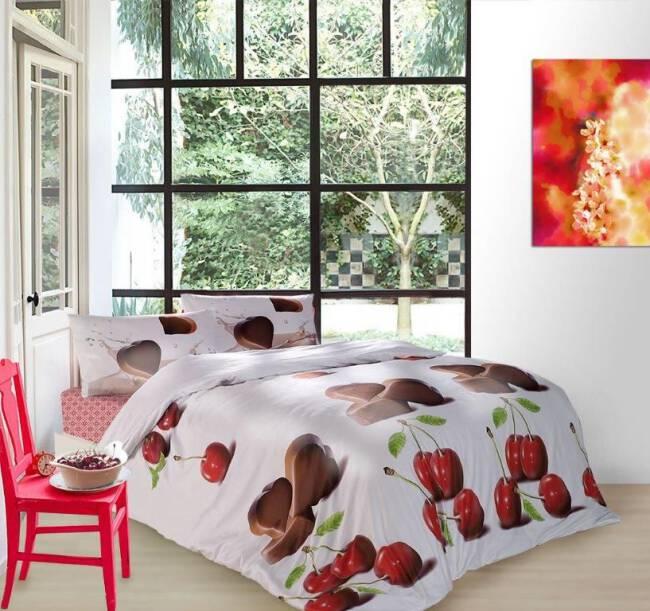 04706b87b8563b Pościel satynowa 200x220 Chocolate Valentini Faro